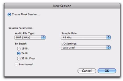 PT10-new-session-dialog saveas formatos de audio